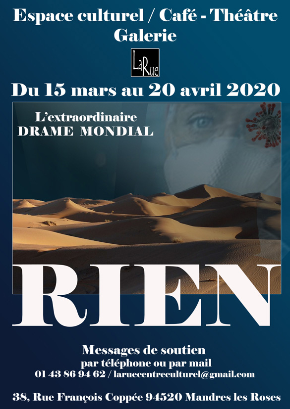 Hélas, le spectacle pourra se prolonger au-delà du 20 avril 2020.