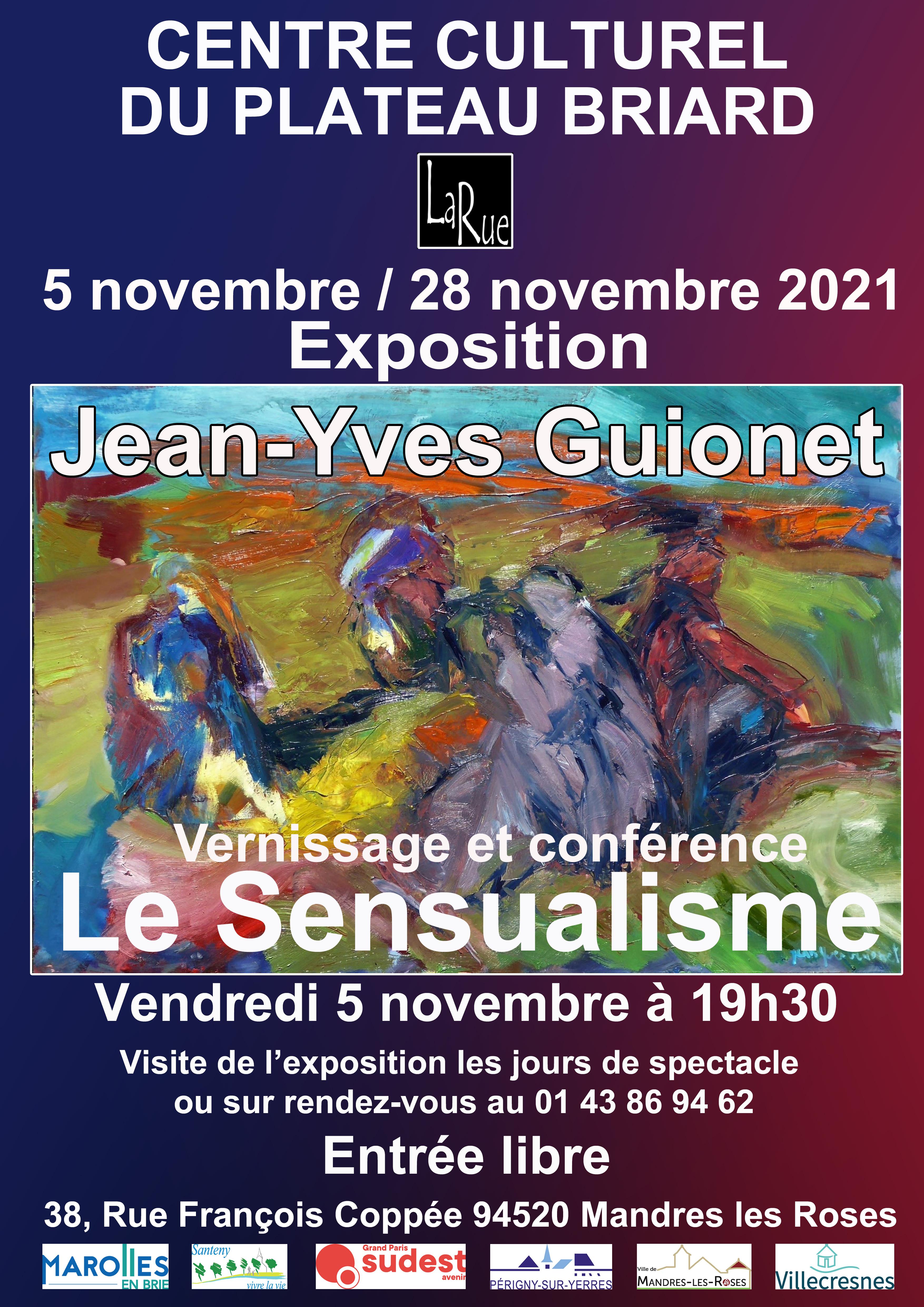 Le sensualisme, vous connaissez ? Conférence et vernissage le vendredi 5 novembre 2021.