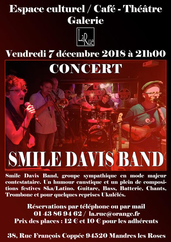 Smile Davis Band... Soirée cool et engagée !