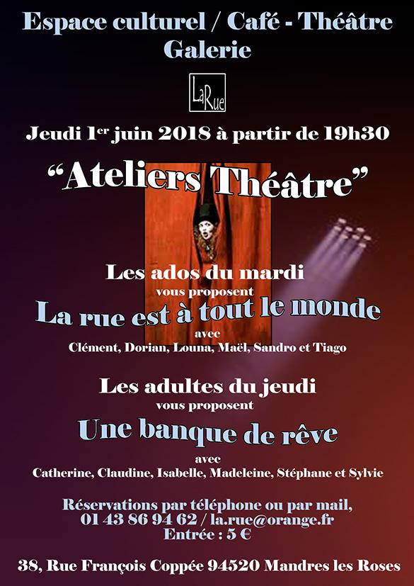 Théâtre amateur juste pour le plaisir des acteurs et des spectateurs...