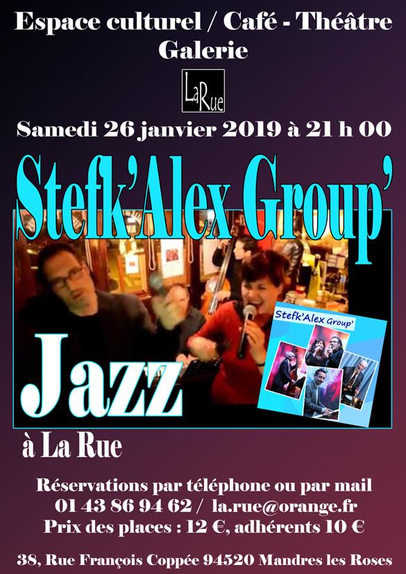 Stefk'Alex group', du Jazz comme on l'aime. Une soirée sympathique à La Rue-copie