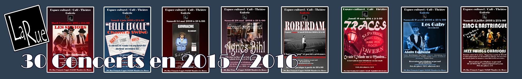 Les concerts, à La Rue... On adore !