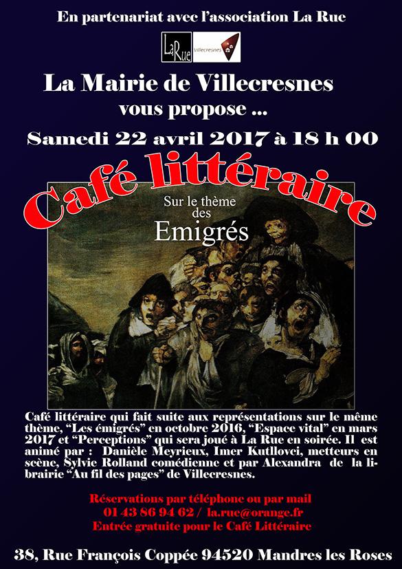 Café littéraire sur le thème des émigrés. Un succès !